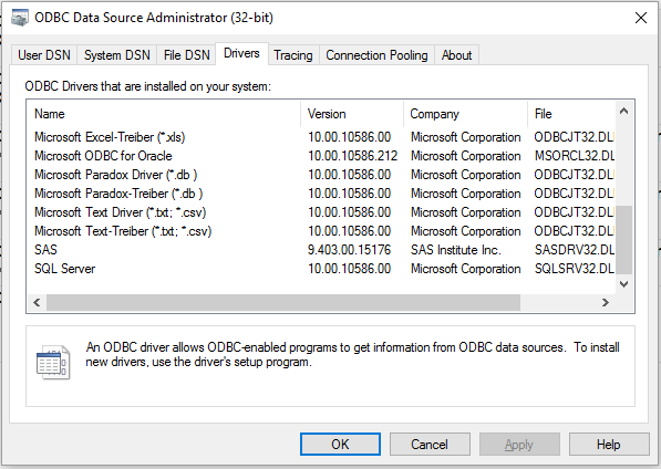 60322 - Identify the Microsoft ACE components installed