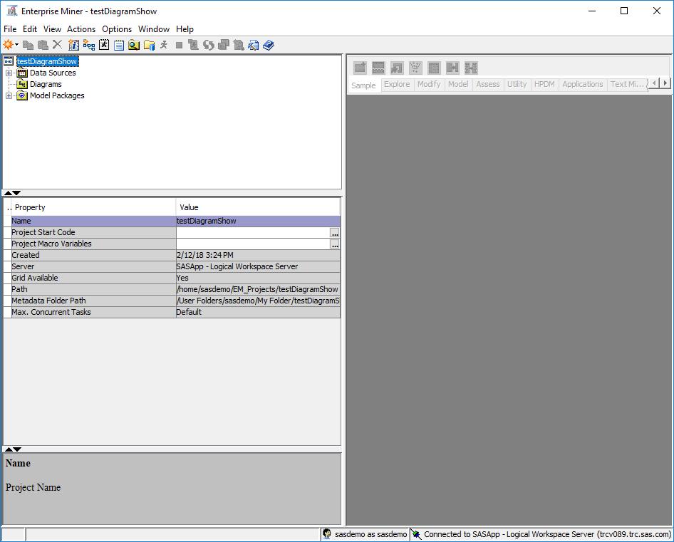 61977 - The Diagrams folder in the SAS® Enterprise Miner(TM