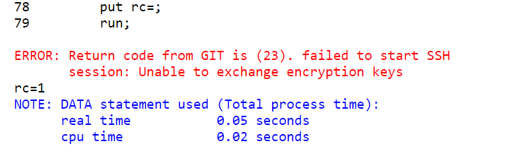 63549 - You use an SSH URL to perform certain actions with a Git
