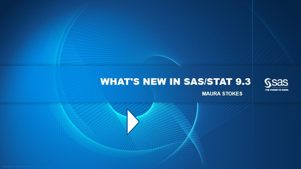 What's New in SAS/STAT 9.3