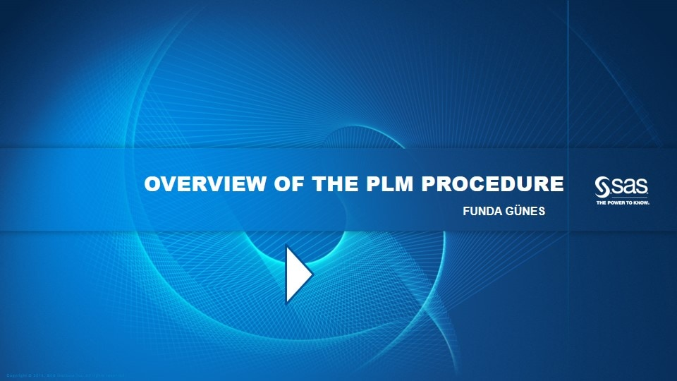 Overview of the PLM Procedure