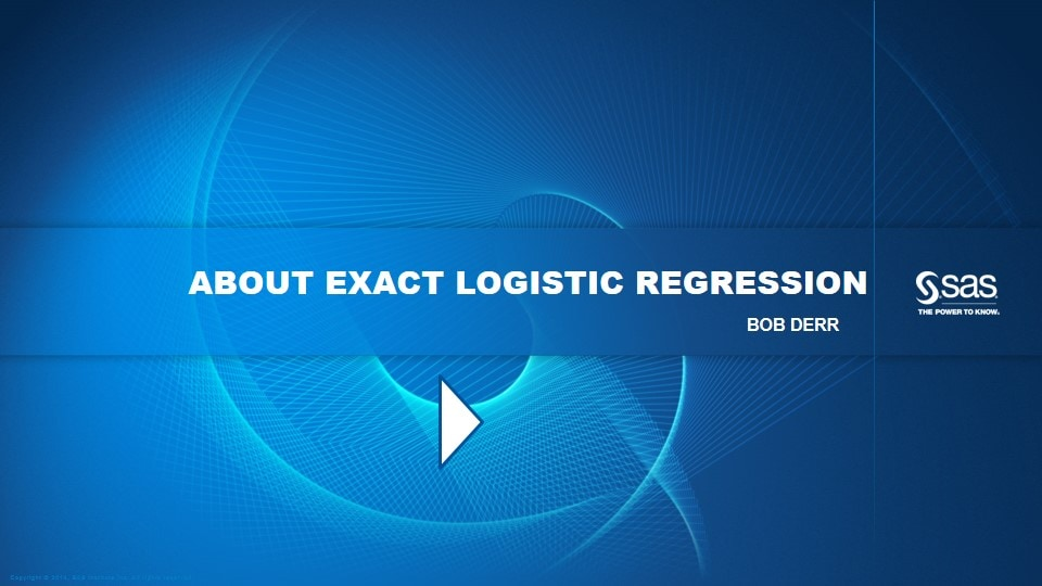About Exact Logistic Regression