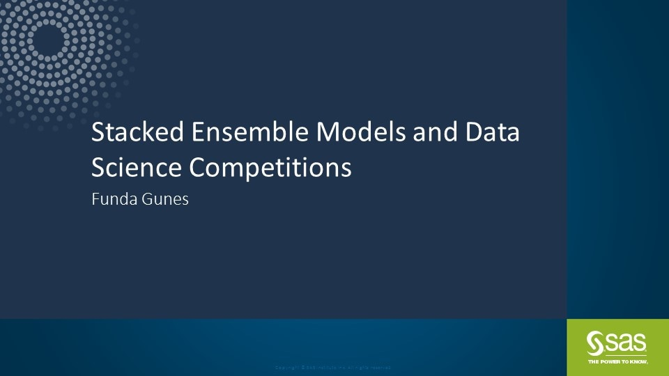 Stacked Ensemble Models and Data Science Competitions