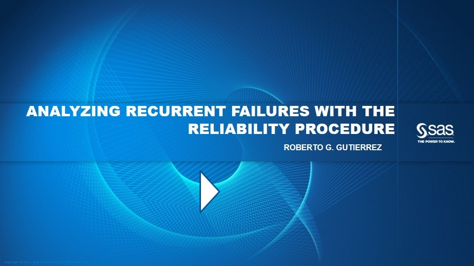 Analyzing Recurrent Failures with the Reliability Procedure