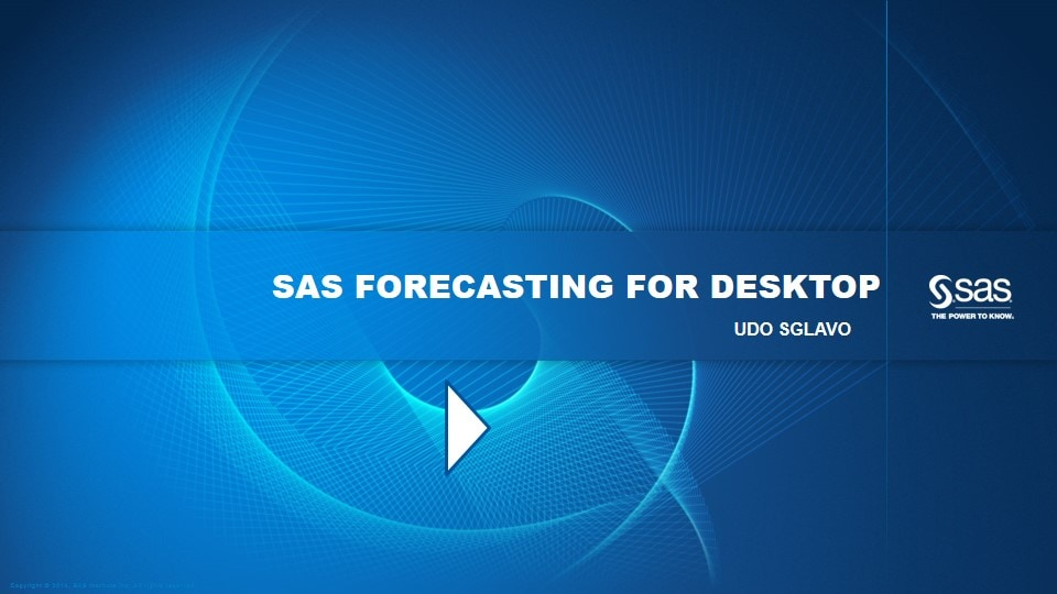 SAS Forecasting for Desktop