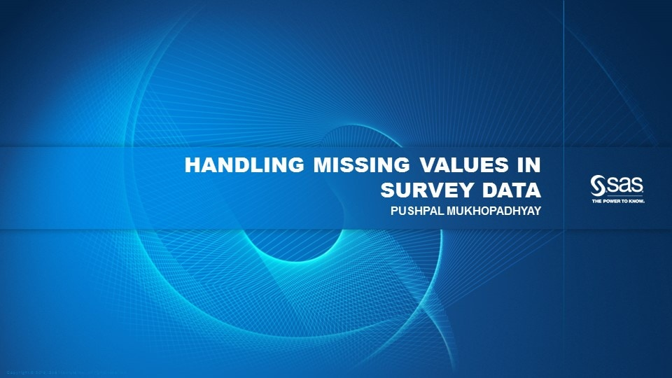 Handling Missing Values In Survey Data