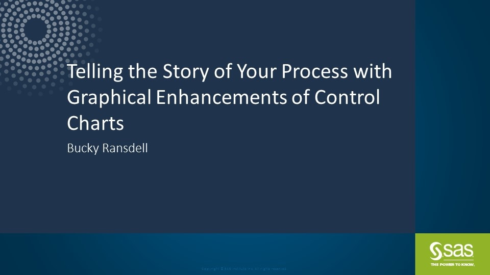 Telling the Story of Your Process with Graphical Enhancements of Control Charts