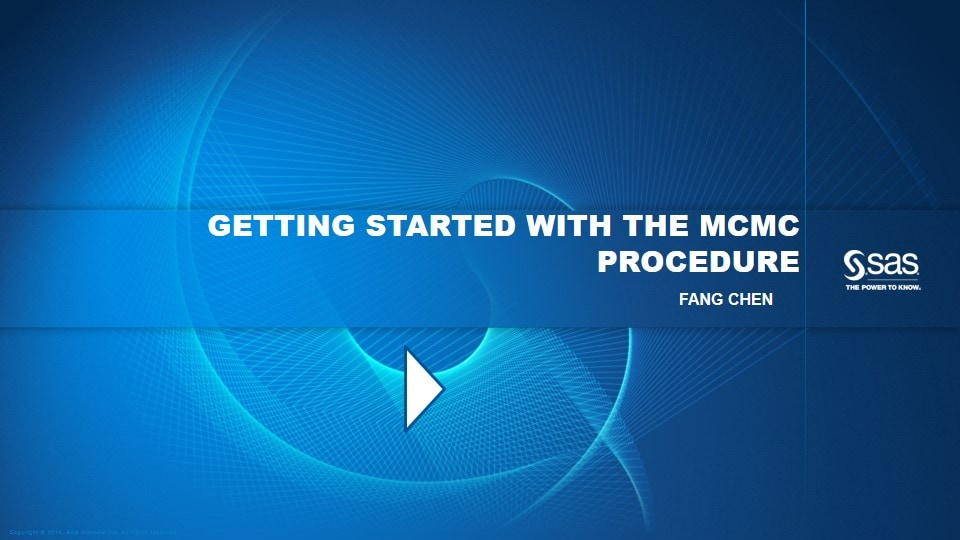 Getting Started with the MCMC Procedure