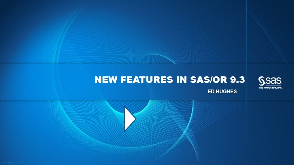 New Features in SAS/OR 9.3