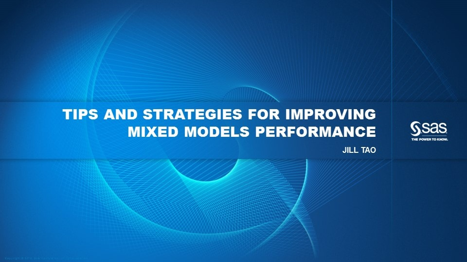 Tips and Strategies for Improving Mixed Models Performance