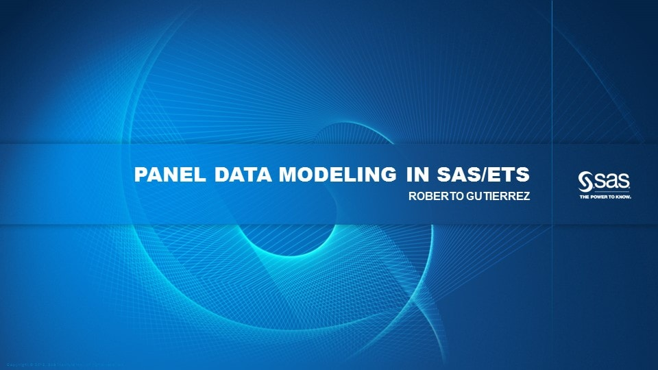 Panel Data Modeling in SAS/ETS