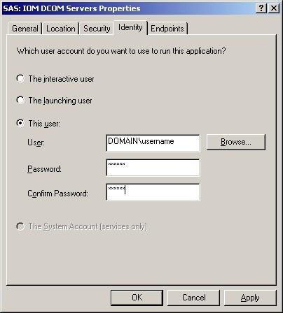 Active Server Page to Windows Server using COM or DCOM