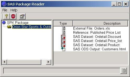 SAS Package Reader: Listing Package Entries