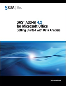 SAS Add-In 4.2 for Microsoft Office: Getting Started with Data Analysis book cover