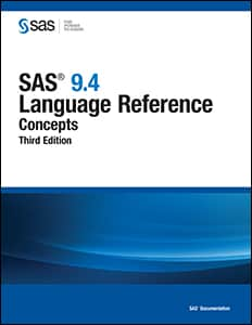 SAS 9.4 Language Reference: Concepts, Third Edition book cover
