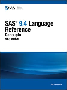 SAS 9.4 Language Reference: Concepts, Fifth Edition book cover