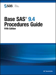 Base SAS 9.4 Procedures Guide, Fifth Edition book cover