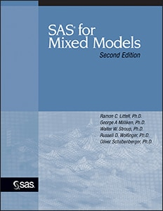 SAS for Mixed Models, Second Edition book cover