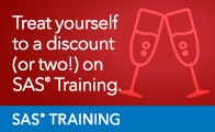 SAS Training Holiday Discount